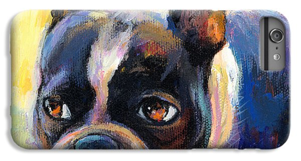 Pensive Boston Terrier Dog Painting IPhone 6 Plus Case by Svetlana Novikova
