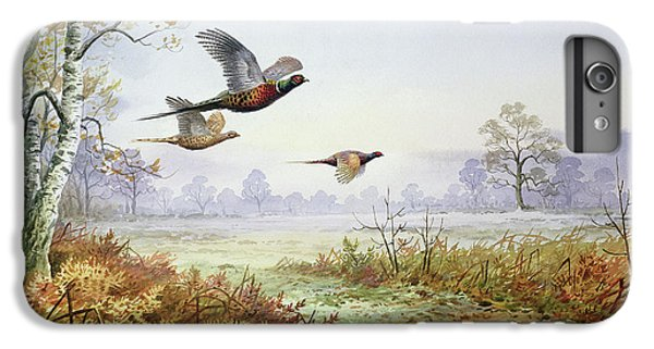 Pheasants In Flight  IPhone 6 Plus Case by Carl Donner