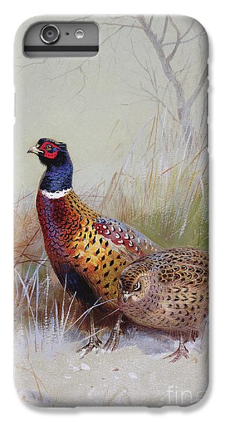 Pheasants In The Snow IPhone 6 Plus Case by Archibald Thorburn
