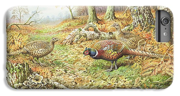 Pheasants With Blue Tits IPhone 6 Plus Case by Carl Donner