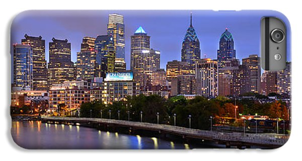 Philadelphia Philly Skyline At Dusk From Near South Color Panorama IPhone 6 Plus Case by Jon Holiday