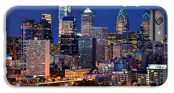 Philadelphia Skyline At Night IPhone 6 Plus Case by Jon Holiday
