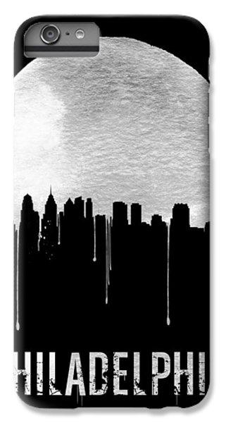 Philadelphia Skyline Black IPhone 6 Plus Case by Naxart Studio