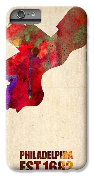 Philadelphia Watercolor Map IPhone 6 Plus Case by Naxart Studio