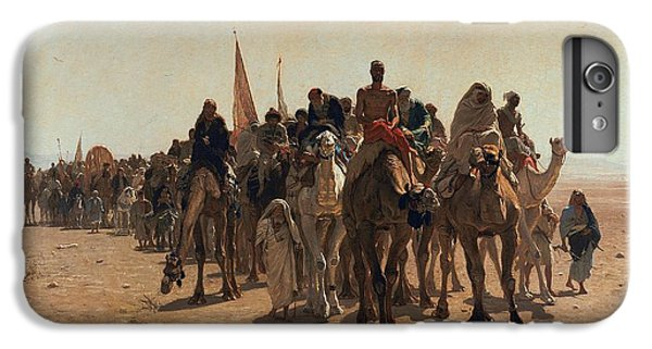 Pilgrims Going To Mecca IPhone 6 Plus Case by Leon Auguste Adolphe Belly