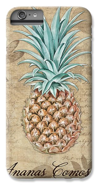 Pineapple, Ananas Comosus Vintage Botanicals Collection IPhone 6 Plus Case by Tina Lavoie