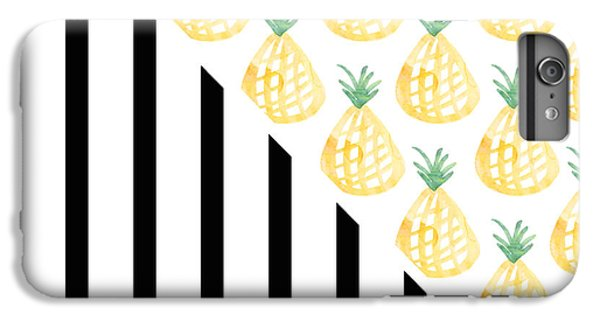 Pineapples And Stripes IPhone 6 Plus Case by Linda Woods