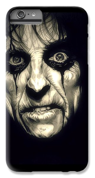 Poison Alice Cooper IPhone 6 Plus Case by Fred Larucci