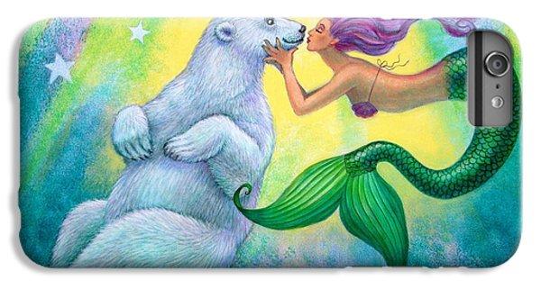Polar Bear Kiss IPhone 6 Plus Case by Sue Halstenberg
