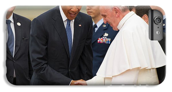 Pope Francis And President Obama IPhone 6 Plus Case by Mountain Dreams