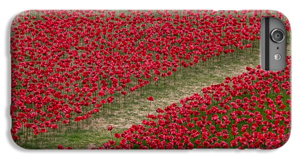 Poppies Of Remembrance IPhone 6 Plus Case by Martin Newman