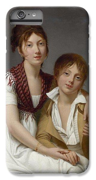 Portrait D'amelie-justine Et De Charles-edouard Pontois IPhone 6 Plus Case by Celestial Images