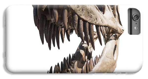 Portrait Of A Dinosaur Skeleton, Isolated On Pure White. IPhone 6 Plus Case by Caio Caldas
