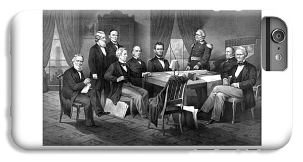 President Lincoln His Cabinet And General Scott IPhone 6 Plus Case by War Is Hell Store