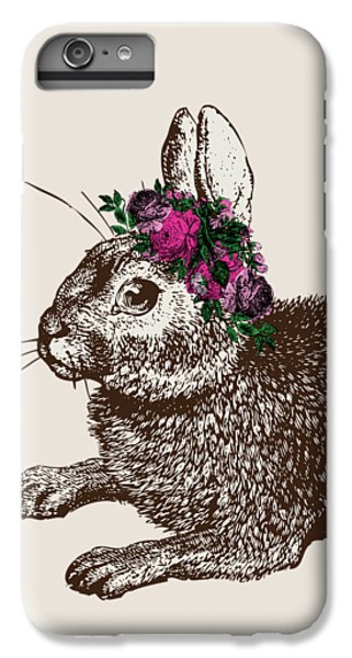 Rabbit And Roses IPhone 6 Plus Case by Eclectic at HeART