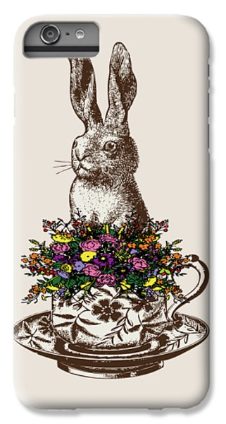 Rabbit In A Teacup IPhone 6 Plus Case by Eclectic at HeART