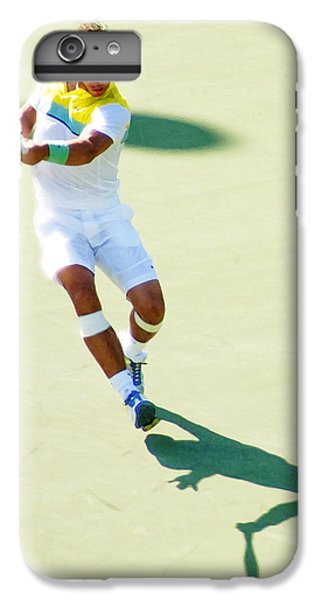 Rafael Nadal Shadow Play IPhone 6 Plus Case by Steven Sparks