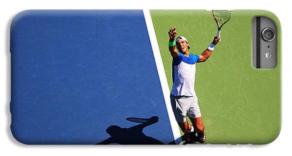 Rafeal Nadal Tennis Serve IPhone 6 Plus Case by Nishanth Gopinathan