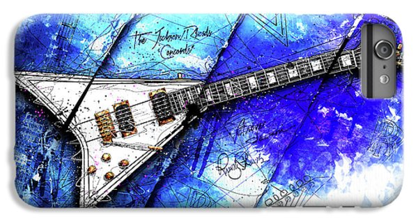 Randy's Guitar On Blue II IPhone 6 Plus Case by Gary Bodnar