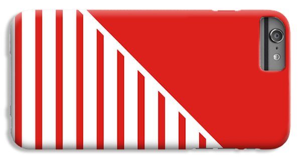Red And White Triangles IPhone 6 Plus Case by Linda Woods