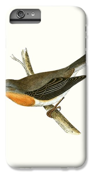 Red Breasted Flycatcher IPhone 6 Plus Case by English School