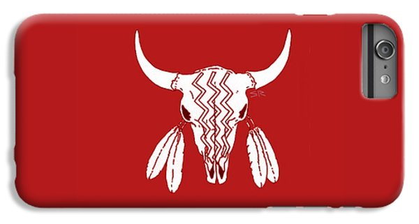 Red Ghost Dance Buffalo IPhone 6 Plus Case by Steamy Raimon