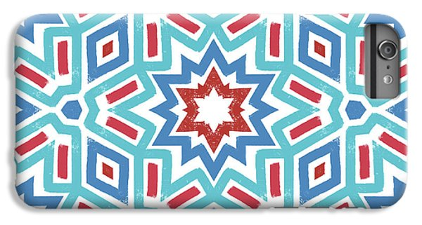Red White And Blue Fireworks Pattern- Art By Linda Woods IPhone 6 Plus Case by Linda Woods