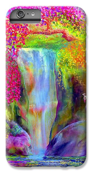 Waterfall And White Peacock, Redbud Falls IPhone 6 Plus Case by Jane Small
