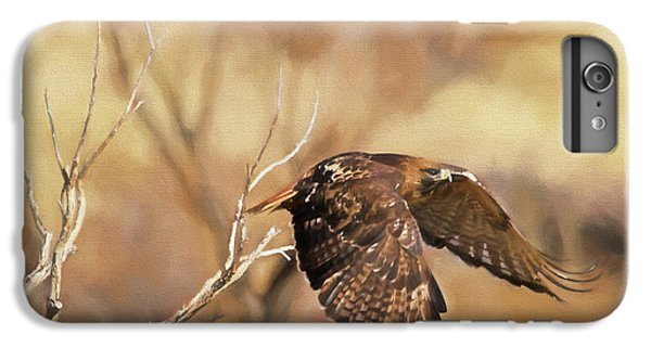 Redtail On The Move IPhone 6 Plus Case by Donna Kennedy