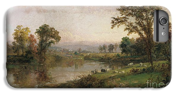 Riverscape In Early Autumn IPhone 6 Plus Case by Jasper Francis Cropsey