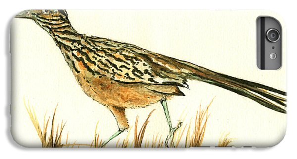Roadrunner Bird IPhone 6 Plus Case by Juan Bosco