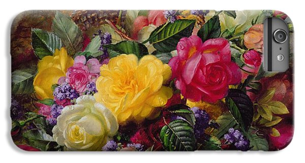 Roses By A Pond On A Grassy Bank  IPhone 6 Plus Case by Albert Williams