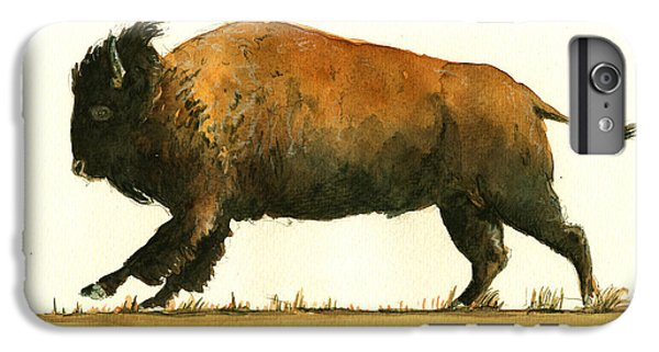 Running American Buffalo IPhone 6 Plus Case by Juan  Bosco