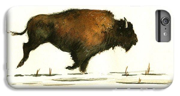 Running Buffalo IPhone 6 Plus Case by Juan  Bosco