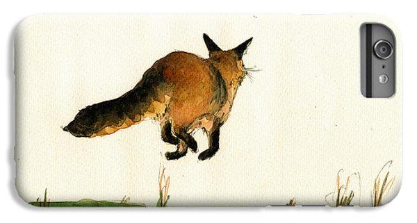 Running Fox Painting IPhone 6 Plus Case by Juan  Bosco