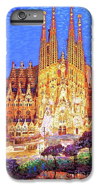 Sagrada Familia At Night IPhone 6 Plus Case by Jane Small