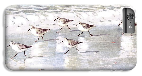 Sandpipers On Siesta Key IPhone 6 Plus Case by Shawn McLoughlin