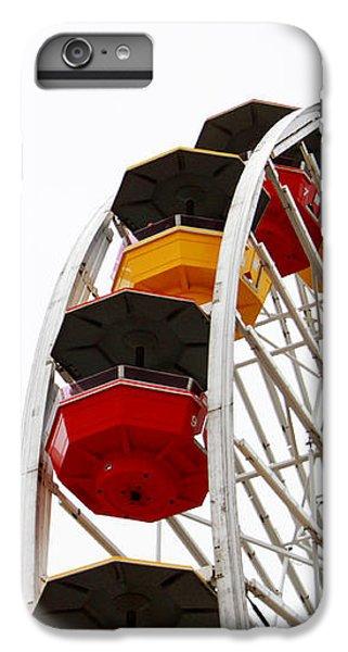 Santa Monica Pier Ferris Wheel- By Linda Woods IPhone 6 Plus Case by Linda Woods