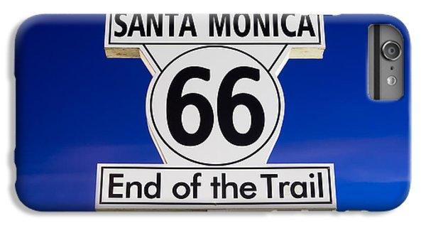 Santa Monica Route 66 Sign IPhone 6 Plus Case by Paul Velgos