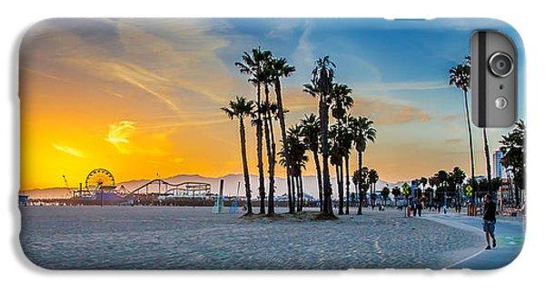 Santa Monica Sunset IPhone 6 Plus Case by Az Jackson