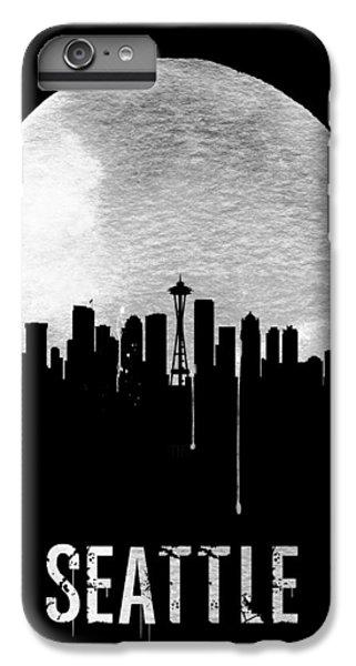 Seattle Skyline Black IPhone 6 Plus Case by Naxart Studio