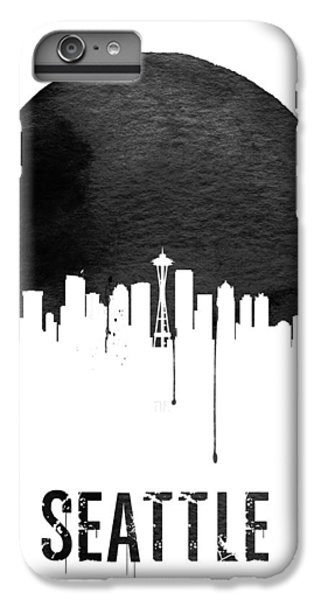 Seattle Skyline White IPhone 6 Plus Case by Naxart Studio