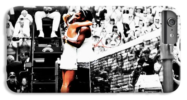Serena Williams And Angelique Kerber 1a IPhone 6 Plus Case by Brian Reaves