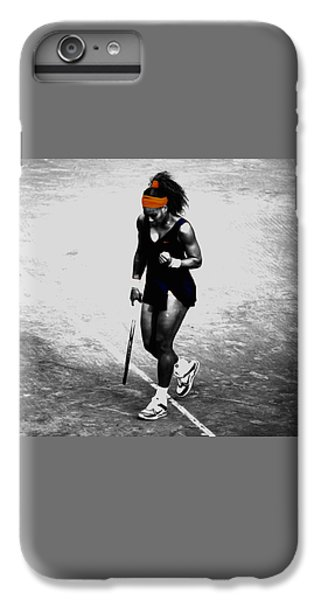 Serena Williams Match Point 3a IPhone 6 Plus Case by Brian Reaves