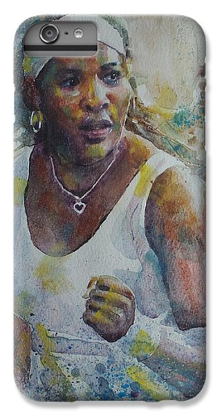 Serena Williams - Portrait 5 IPhone 6 Plus Case by Baresh Kebar - Kibar