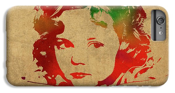 Shirley Temple Watercolor Portrait IPhone 6 Plus Case by Design Turnpike