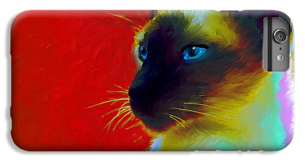 Siamese Cat 10 Painting IPhone 6 Plus Case by Svetlana Novikova