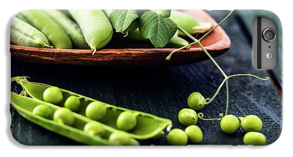 Snow Peas Or Green Peas Still Life IPhone 6 Plus Case by Vishwanath Bhat