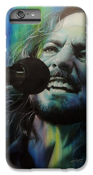 Eddie Vedder - ' Spectrum Of Vedder ' IPhone 6 Plus Case by Christian Chapman Art