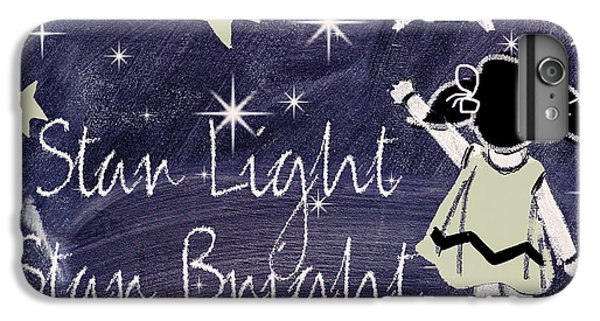 Star Light Star Bright Chalk Board Nursery Rhyme IPhone 6 Plus Case by Mindy Sommers